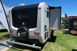 Regent slides into new territory. News article from Caravan and camping sales. - Snowy River Caravans - Media